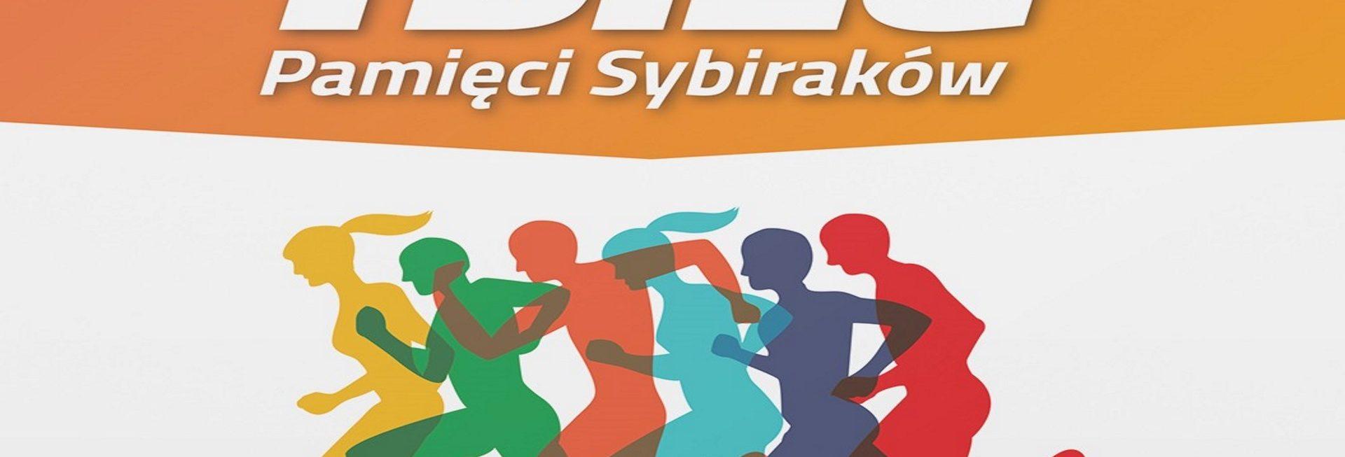 Zdjęcie - plakat, na którym są widoczne graficzne postacie biegnących zawodników. Na plakacie informacja z datą imprezy.