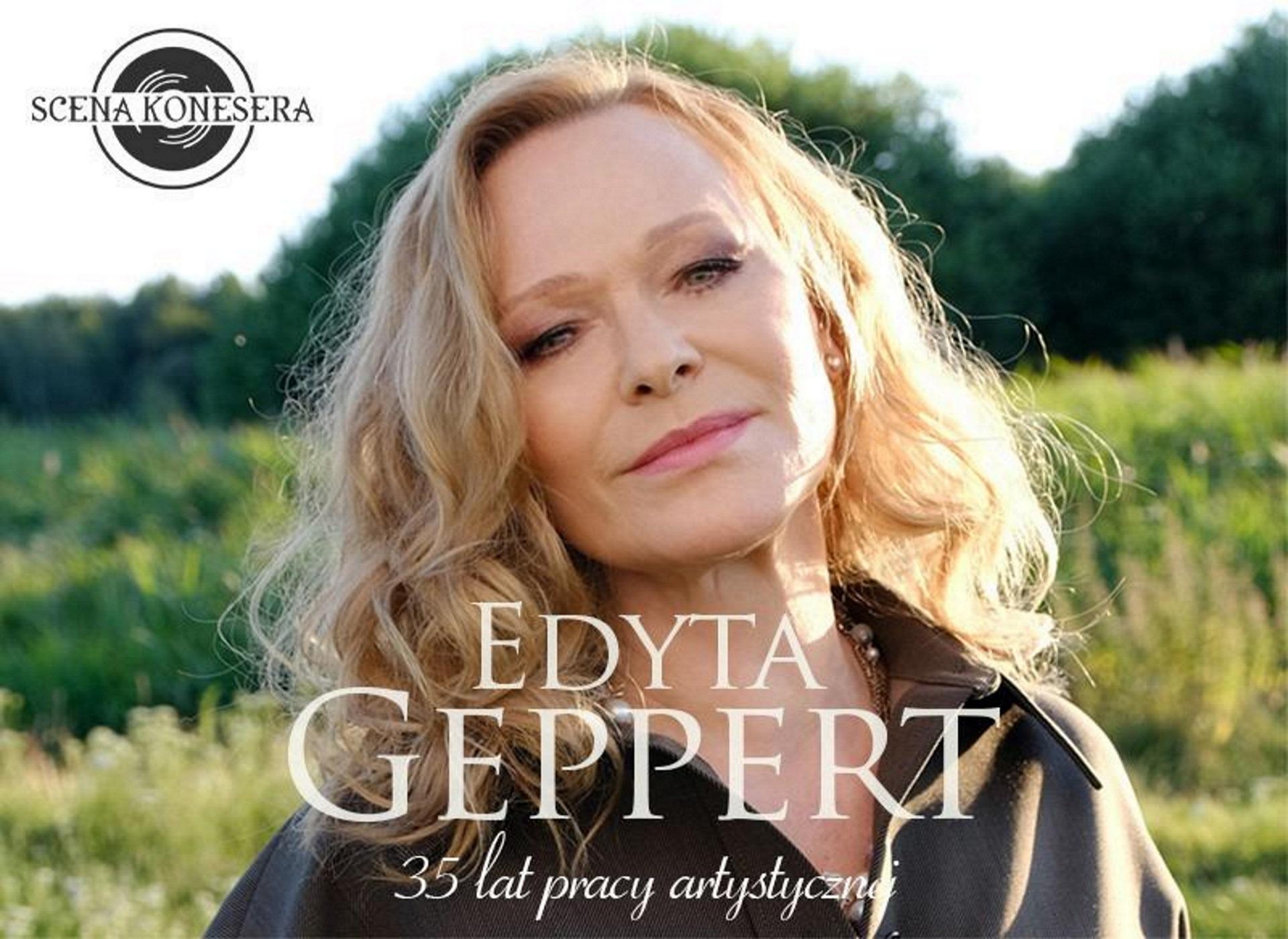 Zdjęcie - plakat na którym widoczna jest artystka, piosenkarka Edyta Gepert