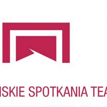 Zdjęcie - plakat graficzny z logiem Spotkań Teatralnych w Olsztynie
