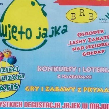Zapraszamy 5 lipca do Gołdapi na jubileuszową 10. edycję Ogólnopolskiego Święta Jajka - Gołdap 2020. Na plakacie informacja gdzie i kiedy odbędzie się impreza.
