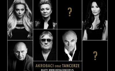 Plakat zapraszający na 4. edycję Koncertu Muzyki Filmowej + Seriale - Olsztyn 2020. Na plakacie z czarnym tłem zdjęcia wykonawców występujących podczas imprezy.