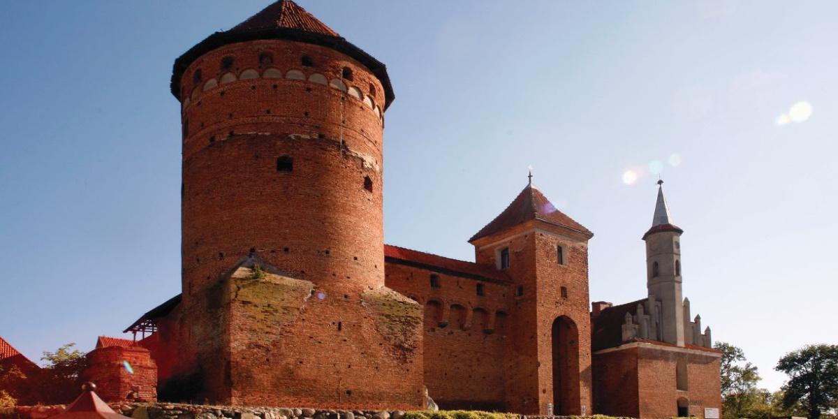 Panorama Zamku Biskupów Warmińskich w Reszlu.