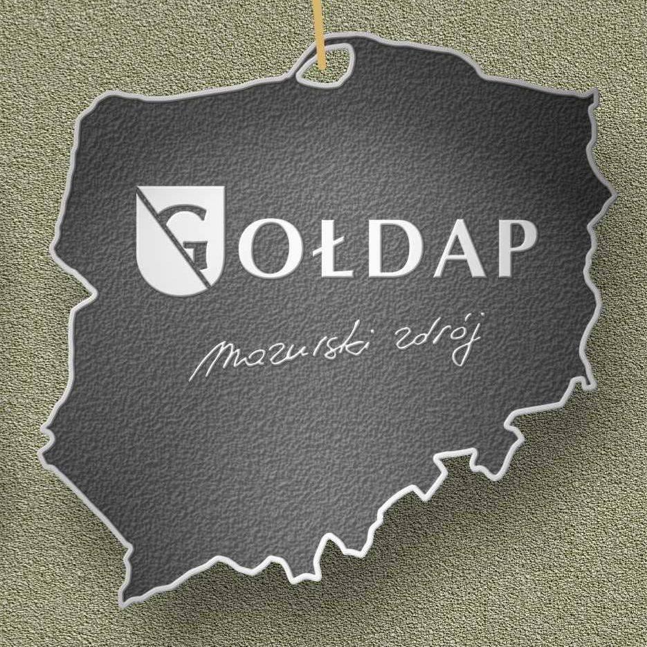 Plakat graficzny zapraszający do Gołdapi na 44. edycję Zdrojowego Biegu Zwycięstwa - Gołdap 2021.