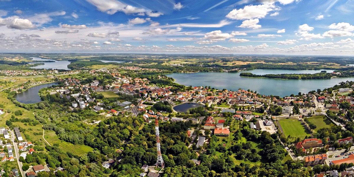 Panorama miasta Mrągowo.