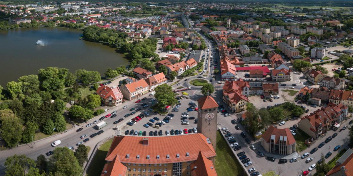 Szczytno - panorama miasta.
