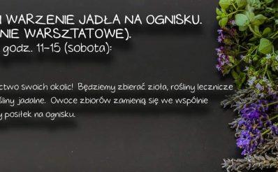 Plakat graficzny zapraszający do miejscowości Gietrzwałd na Warsztaty zielarstwa - Gietrzwałd 2021.